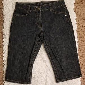 Rafaella Womens Capri Blue Jeans Sz 6